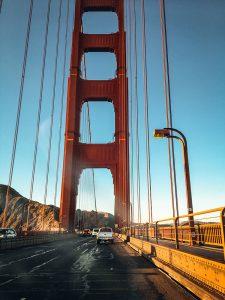 Przejazd przez most Golden Gate, San Francisco