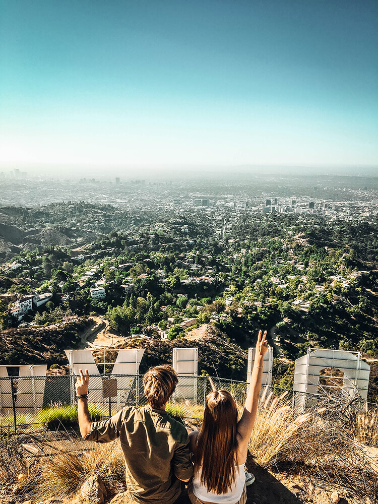 Hollywood Sign - road trip