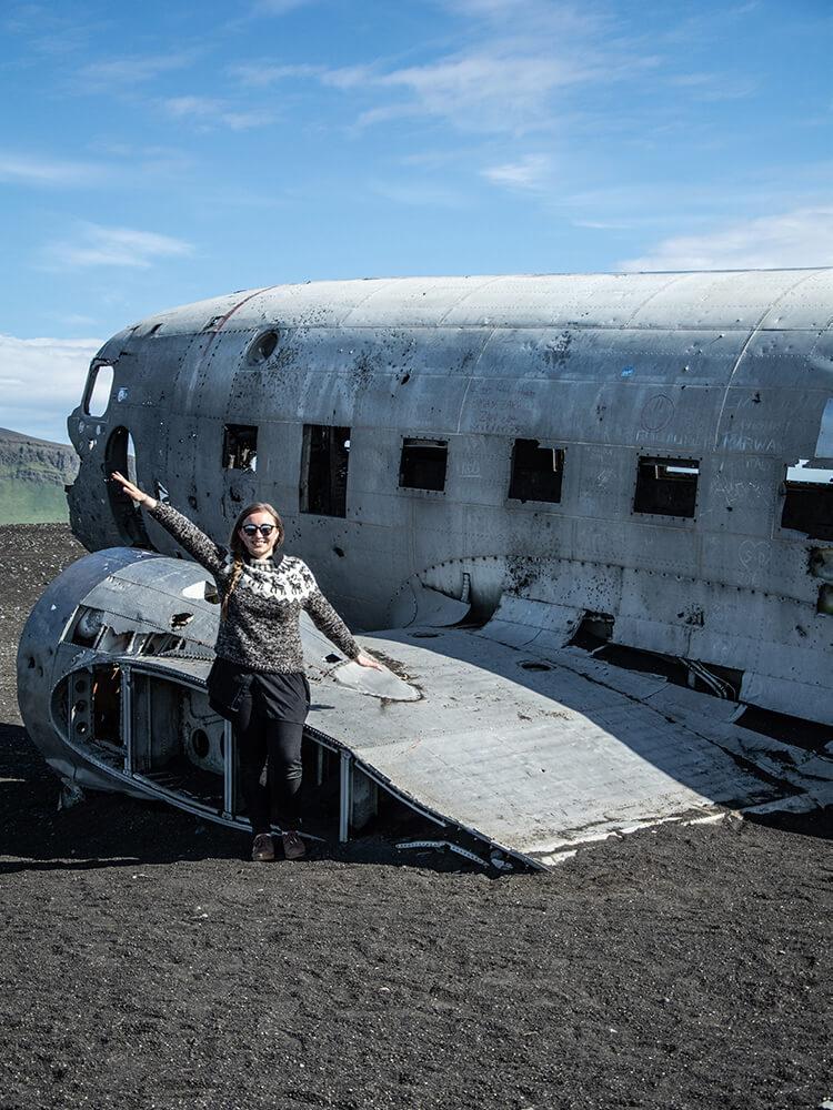 Wrak samolotu, Południowa Islandia
