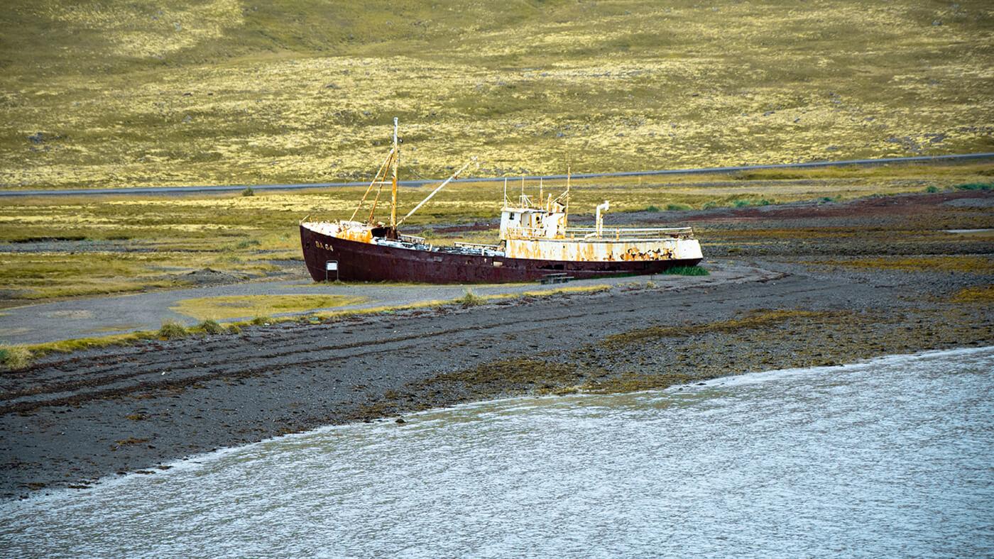 Wrak statku Garðar BA 64, Zachodnia Islandia
