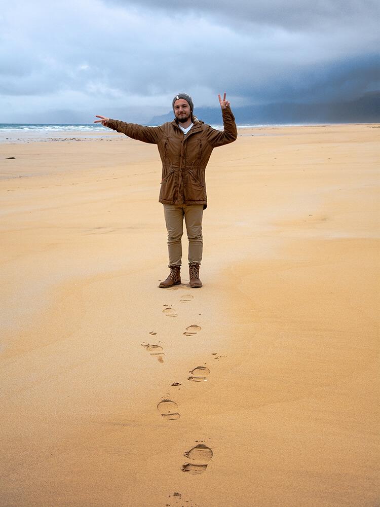 Pomarańczowa plaża, Zachodnia Islandia