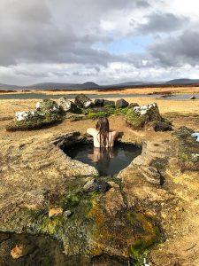 Gorące źródła Landbrotalaug, Zachodnia Islandia
