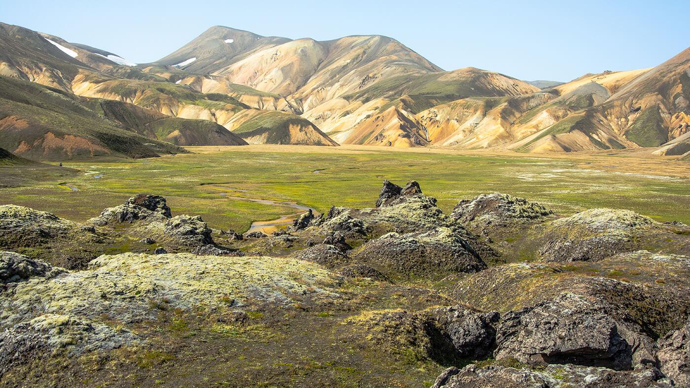 Tęczowe góry Landmannalaugar